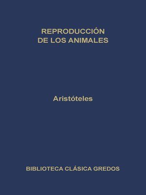 cover image of Reproducción de los animales