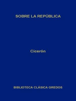 cover image of Sobre la República