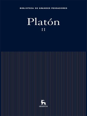 cover image of Platón II