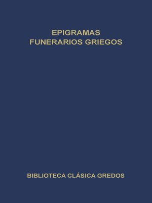 cover image of Epigramas funerarios griegos