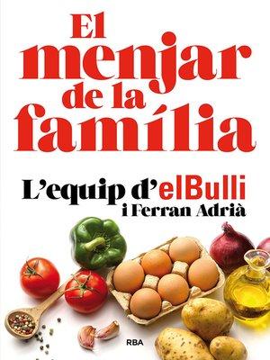 cover image of El menjar de la familia