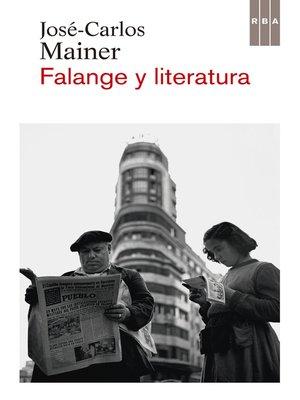 cover image of Falange y literatura