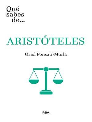 cover image of Qué sabes de... ARISTÓTELES