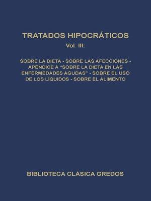 cover image of Tratados hipocráticos III
