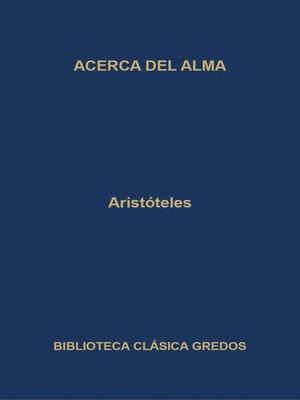 cover image of Acerca del alma