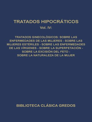cover image of Tratados hipocráticos IV