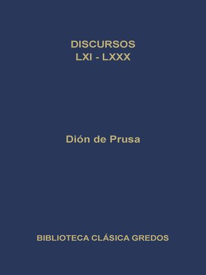 cover image of Discursos LXI-LXXX