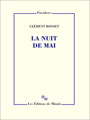 cover image of La Nuit de mai