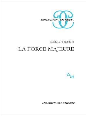 cover image of La Force majeure