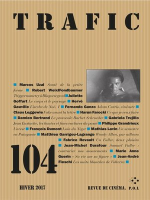 cover image of Trafic N° 104 (Hiver 2017)