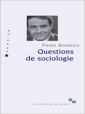cover image of Questions de sociologie