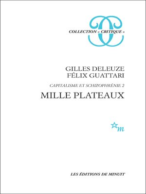 cover image of Mille plateaux