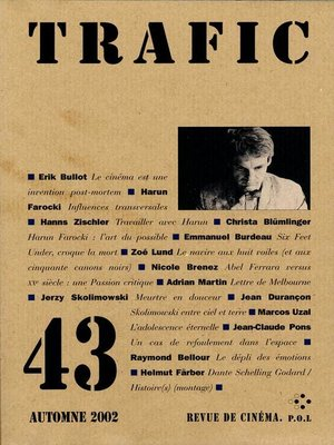 cover image of Trafic N° 43 (Automne 2002)