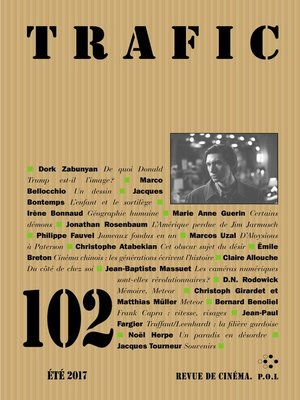 cover image of Trafic N° 102 (Eté 2017)