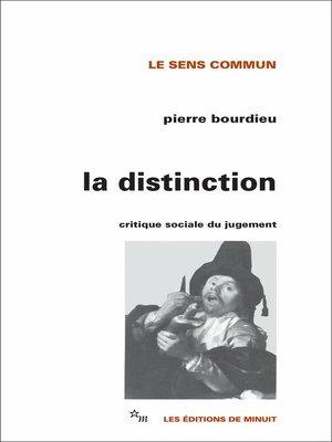 cover image of La Distinction