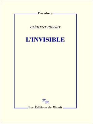cover image of L'Invisible