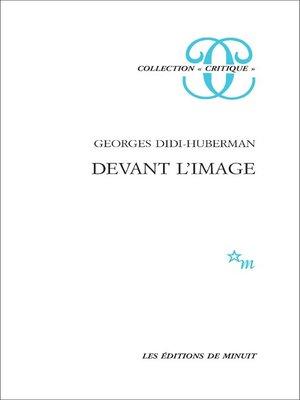 cover image of Devant l'image