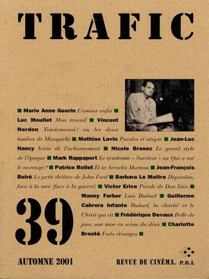 cover image of Trafic N° 39 (Automne 2001)