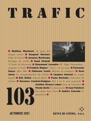 cover image of Trafic N° 103 (Automne 2017)