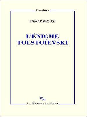 cover image of L'Énigme Tolstoïevski