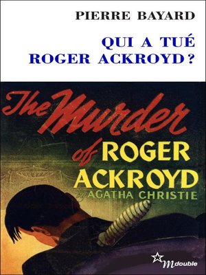 cover image of Qui a tué Roger Ackroyd?