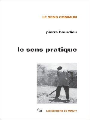 cover image of Le Sens pratique