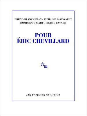cover image of Pour Éric Chevillard