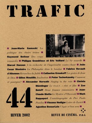 cover image of Trafic N° 44 (Hiver 2002)