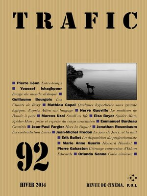 cover image of Trafic n° 92 (Hiver 2014)