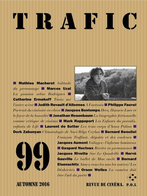 cover image of Trafic 99 (Automne 2016)