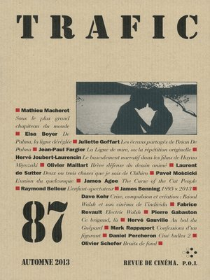 cover image of Trafic 87