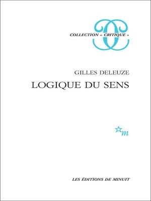 cover image of Logique du sens