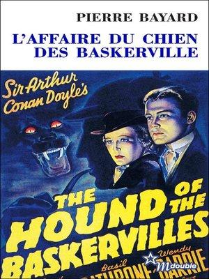 cover image of L'Affaire du chien des Baskerville