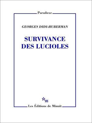 cover image of Survivance des lucioles