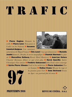 cover image of Trafic N° 97 (Printemps 2016)