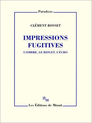 cover image of Impressions fugitives