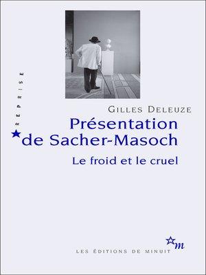 cover image of Présentation de Sacher-Masoch