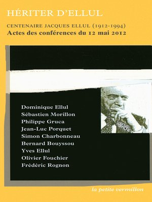 cover image of Hériter d'Ellul