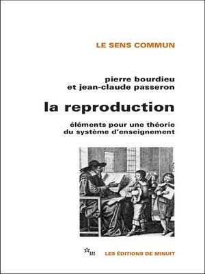 cover image of La Reproduction