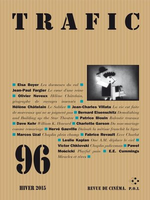 cover image of Trafic N° 96 (Hiver 2015)
