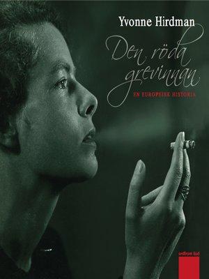 cover image of Den röda grevinnan--En europeisk historia