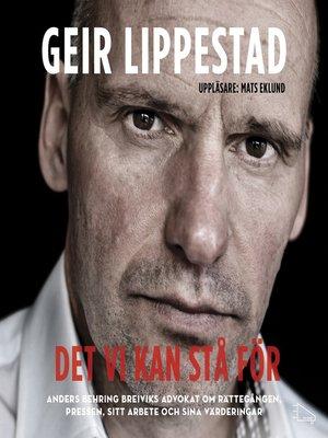 cover image of Det vi kan stå för