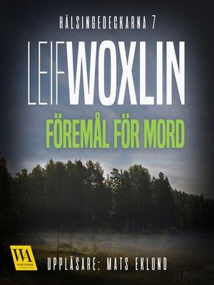 cover image of Föremål för mord