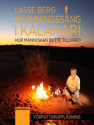 cover image of Skymningssång i Kalahari