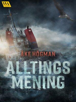 cover image of Alltings mening