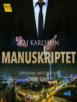 cover image of Manuskriptet