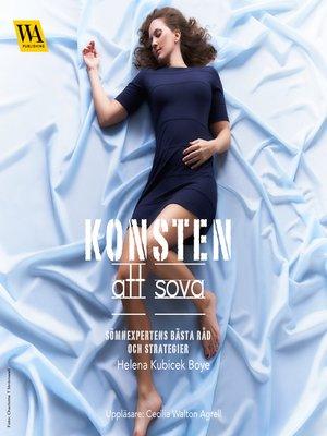 cover image of Konsten att sova