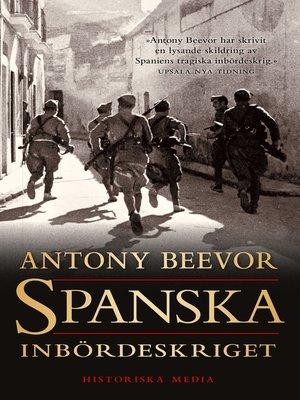 cover image of Spanska inbördeskriget