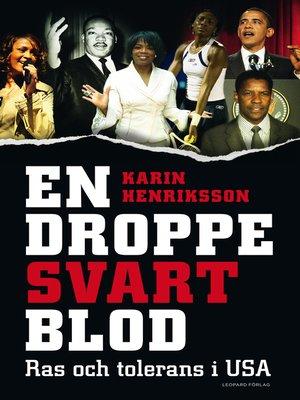 cover image of En droppe svart blod