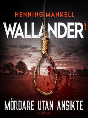 cover image of Mördare utan ansikte